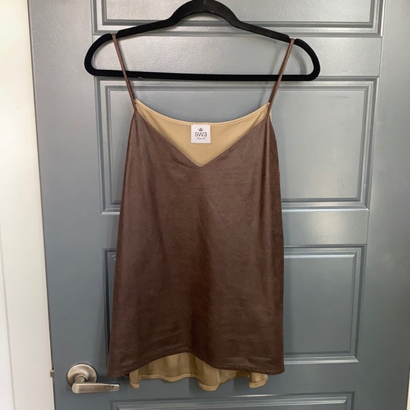 Faux leather look camisole